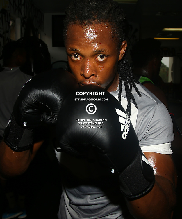 DURBAN, SOUTH AFRICA - JANUARY 16: Sibusiso Nkosi during the Cell C Sharks boxing session at Domination on January 16, 2017 in Durban, South Africa. (Photo by Steve Haag/Gallo Images)