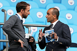 England U21 coach Gareth Southgate speaks with Belgium manager Roberto Martinez - Mandatory by-line: Matt McNulty/JMP - 13/08/2016 - FOOTBALL - Etihad Stadium - Manchester, England - Manchester City v Sunderland - Premier League