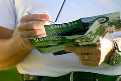 Pontuação do jogo no XIII Aberto do Belém Novo Golf Club.  FOTO: Itamar Aguiar/Preview.com