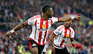 Lamine Kone (23) of Sunderland celebrates scoring to make it 2-0 during the Barclays Premier League match at the Stadium Of Light, Sunderland<br /> Picture by Simon Moore/Focus Images Ltd 07807 671782<br /> 11/05/2016