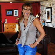 Carol Smillie in her beach home 'Boathouse of Maidens' in Ayrshire. For At Home.  Picture Robert Perry The Scotsman 17th Aug 2012