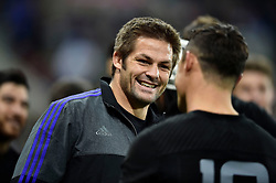 Richie McCaw is all smiles after the match - Mandatory byline: Patrick Khachfe/JMP - 07966 386802 - 09/10/2015 - RUGBY UNION - St James' Park - Newcastle, England - New Zealand v Tonga - Rugby World Cup 2015 Pool C.