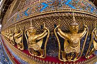 Temple of the Emerald Buddha, Grand Palace, Bangkok, Thailand