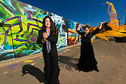Singer Olivia Rojas (left) and Flamenco dancer Angelina Ramirez (right) pose for a photo outside of their dance studio in Downtown Phoenix on August 12, 2016. Rojas and Ramirez are co-owners of Flamenco Por La Vida dance studio. Singer Olivia Rojas (left) and Flamenco dancer Angelina Ramirez (right) pose for a photo outside of their dance studio in Downtown Phoenix on August 12, 2016. Rojas and Ramirez are co-owners of Flamenco Por La Vida dance studio.