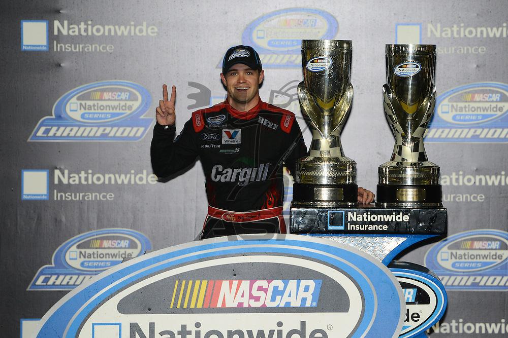 Homestead, FL - Nov 17, 2012: Ricky Stenhouse, Jr. (6) wins the Nascar Nationwide Series at the Homestead-Miami Speedway in Homestead, FL.