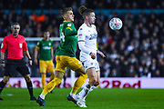 Leeds United midfielder Kalvin Phillips (23) and Preston North End midfielder Brad Potts (44) during the EFL Sky Bet Championship match between Leeds United and Preston North End at Elland Road, Leeds, England on 26 December 2019.