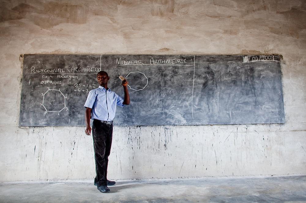 Math class at an all-girls school run by FAWE in Obodan, Ghana.