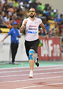 Ramil Guliyev (TUR) places third in the 200m in 20.11 in the 2018 IAAF Doha Diamond League meeting at Suhaim Bin Hamad Stadium in Doha, Qatar, Friday, May 4, 2018. (Jiro Mochizuki/Image of Sport)