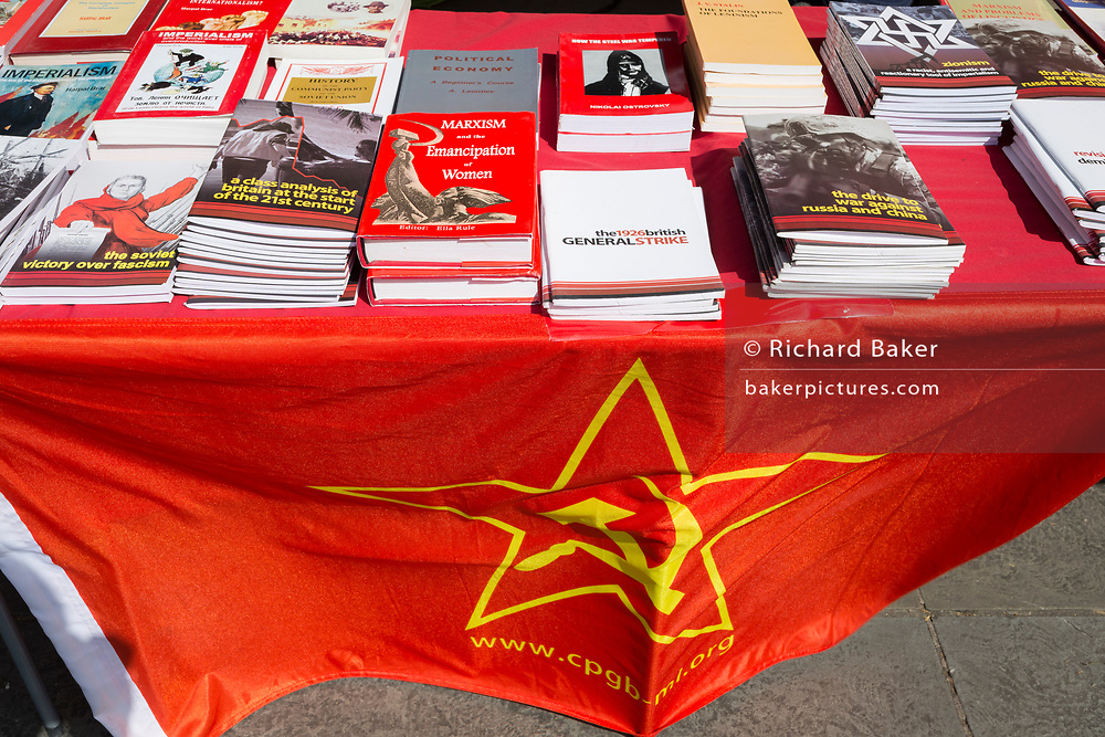 Members of the Communist Party of Great Britain gather in Trafalgar Square during the traditional May Day celebrations in the capital, on 1st May 2018, in London, England.