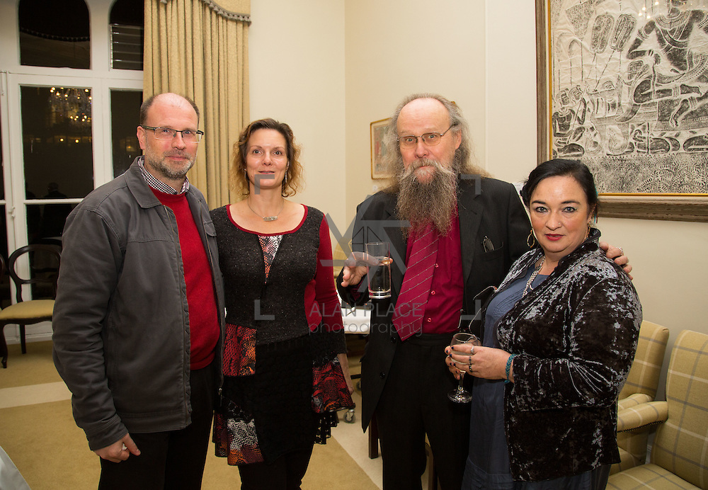 22.11.2016                   <br /> University of Limerick (UL) hosted a gala concert celebrating the music of renowned composer M&iacute;che&aacute;l &Oacute; S&uacute;illeabh&aacute;in.<br /> <br /> Pictured at a special reception before the concert were, Mats and Emma Melin, Mikael Fernstrom and Tracey King.<br /> <br /> <br /> The RT&Eacute; Concert Orchestra, conducted by David Brophy, performed with M&iacute;che&aacute;l and a selection of special guests in University Concert Hall Limerick. Picture: Alan Place
