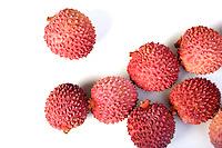 Close-up of lichee fruit - studio shot