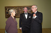 Lady Sainsbury, Philip Haden and Lord John Sainsbury. Stanley Spencer exhibition opening and dinner. Tate Brittain. London. 19 January 2001.  © Copyright Photograph by Dafydd Jones 66 Stockwell Park Rd. London SW9 0DA Tel 020 7733 0108 www.dafjones.com