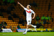 Luke Chadwick of MK Dons celebrates scoring his sides 1st goal during the Carling Cup 2nd Round match at Carrow Road Stadium, Norwich, Norfolk...Picture by Paul Chesterton/Focus Images Ltd.  07904 640267.23/8/11