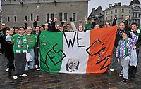 Football -  UEFA EURO2012 Qualifying Play-off, 1st leg - Estonia v Republic of Ireland<br /> Republic of Ireland supporters before the game in Tallinn.