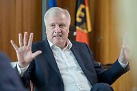 01 JUL 2019, BERLIN/GERMANY:<br /> Horst Seehofer, CSU, Bundesinnenminister, waehrend einem Interview, in seinem Buero, Bundesministerium des Inneren<br /> IMAGE: 20190701-01-017<br /> KEYWORDS: Büro