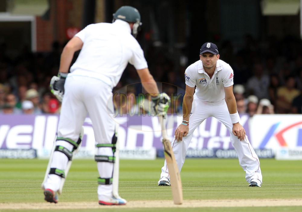 © Andrew Fosker / Seconds Left Images 2012 - England's James Anderson stands hands on knees  having dropped A B De Villiers (L) off Swann 's bowling during the morning session England v South Africa - 3rd Investec Test Match - Day 4 - Lord's Cricket Ground - 19/08/2012 - London - UK - All rights reserved