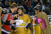 KELOWNA, CANADA - FEBRUARY 22:  ReMax Promotion at the Kelowna Rockets game on February 22, 2017 at Prospera Place in Kelowna, British Columbia, Canada.  (Photo By Cindy Rogers/Nyasa Photography,  *** Local Caption ***