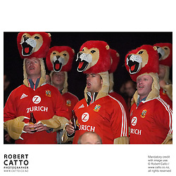 Lions Fans at the British & Irish Lions v. All Blacks First Test at Jade Stadium, Christchurch, New Zealand.<br />
