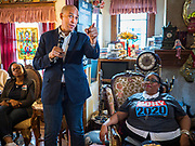 07 JANUARY 2020 - DES MOINES, IOWA: US Senator CORY BOOKER (D-NJ) speaks during a luncheon for African-American women in Des Moines. Sen. Booker is campaigning in Iowa to support his candidacy for the US Presidency. He cut his campaign schedule short Tuesday so he could return to Washington DC for briefings about the Iran situation. Iowa traditionally holds the first event of the presidential election cycle. The Iowa caucuses are Feb. 3, 2020.         PHOTO BY JACK KURTZ