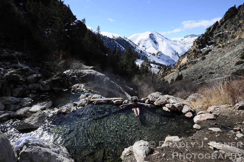 Goldbug Hot Springs near Salmon, Idaho.