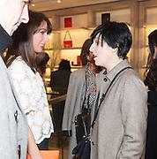SAMANTHA CAMERON; SHARLEEN SPITERI, Smythson Sloane St. Store opening. London. 6 February 2012.