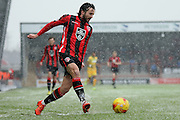 Morecambe Midfielder Aaron Wildig during the Sky Bet League 2 match between Morecambe and Yeovil Town at the Globe Arena, Morecambe, England on 16 January 2016. Photo by Pete Burns.