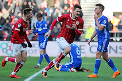Milan Djuric of Bristol City scores a goal making it 1-0- - Mandatory by-line: Nizaam Jones/JMP - 17/03/2018 - FOOTBALL - Ashton Gate Stadium- Bristol, England - Bristol City v Ipswich Town - Sky Bet Championship