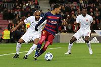 Neymar Barcelona, Maicon As Roma<br /> Barcelona 24-11-2015 Stadio Camp Nou<br /> Football Calcio Champions League 2015/2016 <br /> Group Stage - Group E Barcelona - As Roma /  Barcellona - As Roma<br /> Foto Luca Pagliaricci / Insidefoto