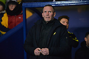 Oxford United Head Coach Michael Appleton during the Sky Bet League 2 match between Oxford United and Northampton Town at the Kassam Stadium, Oxford, England on 16 February 2016. Photo by Adam Rivers.