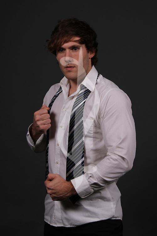 male model posing in contemporary clothes Contemporary Male