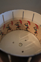 A zoetrope on display in the Casa Mila in central Barcelona, Spain