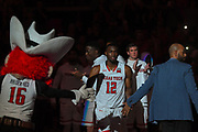 LUBBOCK, TX - MARCH 3: Keenan Evans #12 of the Texas Tech Red Raiders during player introductions prior to the game between the Texas Tech Red Raiders and the TCU Horned Frogs on March 3, 2018 at United Supermarket Arena in Lubbock, Texas. Texas Tech defeated TCU 79-75. Texas Tech defeated TCU 79-75. (Photo by John Weast/Getty Images) *** Local Caption *** Keenan Evans