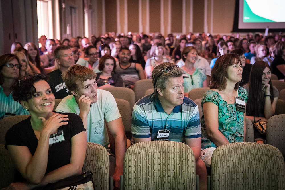 Students and parents listen to Assistant Dean of Students Jamie Patton during Bobcat Student Orientation on Thursday, June 4, 2015.  Photo by Ohio University  /  Rob Hardin