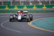 ALBERT PARK, VIC - MARCH 15: Alfa Romeo Racing driver Antonio Giovinazzi (99) at The Australian Formula One Grand Prix on March 15, 2019, at The Melbourne Grand Prix Circuit in Albert Park, Australia. (Photo by Speed Media/Icon Sportswire)