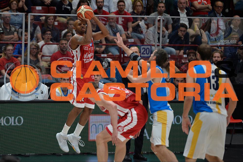 Hickman Richard<br /> Olimpia EA7 Emporio Armani Milano vs Vanoli Cremona<br /> Lega Basket Serie A 2016/2017<br /> PlayOff semifinale gara 2<br /> Milano 14/05/2017<br /> Foto Ciamillo-Castoria / I.Mancini