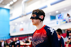 Josh Rogers of Bristol Flyers wears a protective face mask - Rogan/JMP - 11/10/2019 - BASKETBALL - SGS Wise Arena - Bristol, England - Bristol Flyers v Plymouth Raiders - BBL Cup.