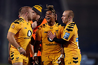 Rugby Union - 2019 / 2020 Gallagher Premiership - Sale Sharks vs. Wasps <br /> <br /> Reaction from Paolo Odogwu of Wasps after being shown a red card, at AJ Bell Stadium,<br /> <br /> COLORSPORT/PAUL GREENWOOD