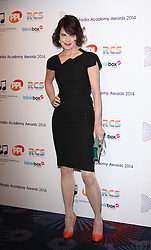 ELIZABETH MCGOVERN arrives for the Radio Academy Awards, London, United Kingdom. Monday, 12th May 2014. Picture by i-Images