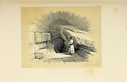Upper fountain of Siloam, Jerusalem from The Holy Land : Syria, Idumea, Arabia, Egypt & Nubia by Roberts, David, (1796-1864) Engraved by Louis Haghe. Volume 1. Book Published in 1855 by D. Appleton & Co., 346 & 348 Broadway in New York.