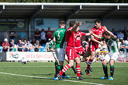 NEWTOWN, WALES - Sunday, May 6, 2018: Michael Wilde of Conahs Quay Nomads scores his sides second goal during the FAW Welsh Cup Final between Aberystwyth Town and Connahs Quay Nomads at Latham Park. (Pic by Paul Greenwood/Propaganda)