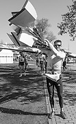 Brandenburg. GERMANY. GBR M8+. Pete REED, Carries the cres blades, after returning from a training session at the <br /> 2016 European Rowing Championships at the Regattastrecke Beetzsee<br /> <br /> Thursday  05/05/2016<br /> <br /> [Mandatory Credit; Peter SPURRIER/Intersport-images]