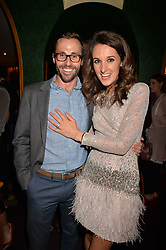 Rosanna Falconer and her fiance George Ryan at the Annabel's Bright Young Things Party at Annabel's, Berkeley SquareLondon England. 8 June 2017.<br /> Photo by Dominic O'Neill/SilverHub 0203 174 1069 sales@silverhubmedia.com