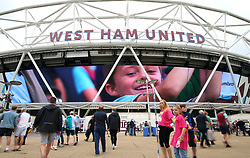 General view of the stadium before the Premier League match at London Stadium.
