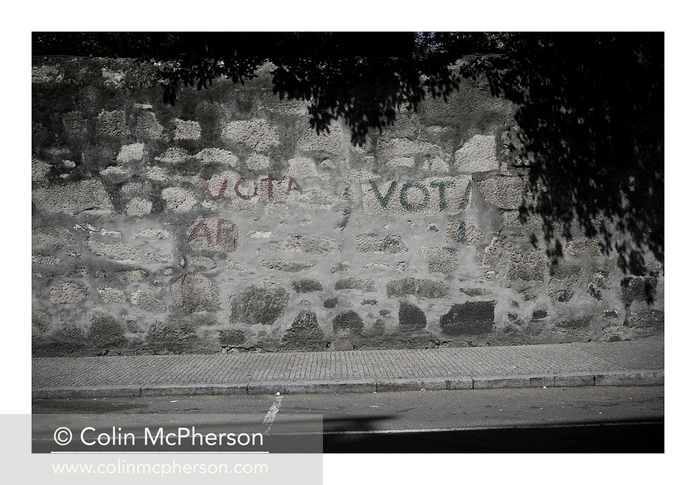 'Vote, 2013', from 'The Recession Will Not Be Televised' by Colin McPherson, a body of photographic work which looks at the visual representation of the ongoing economic crisis in Porto, Portugal.<br /> <br /> Colin McPherson is a photographer and visual artist born in Scotland in 1964. He works internationally on assignments, commissions and projects. He lives in the north west of England.