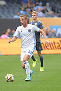 Jackson Yueill of the San Jose Earthquakes during a MLS soccer game against the New York City FC, Saturday, Sept. 14, 2019, in New York. NYCFC defeated San Jose Earthquakes 2-1.(Errol Andersonan/Image of Sport)