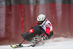 Christoph KUNZ competing in the Alpine Skiing Super Combined Slalom at the 2014 Sochi Winter Paralympic Games, Russia