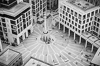 Looking down on Paternoster Square from St. Paul's.
