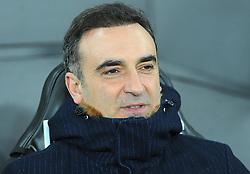 Swansea City manager Carlos Carvalhal looks on - Mandatory by-line: Nizaam Jones/JMP- 17/01/2018 - FOOTBALL - Liberty Stadium- Swansea, Wales - Swansea City v Wolverhampton Wanderers - Emirates FA Cup third round proper