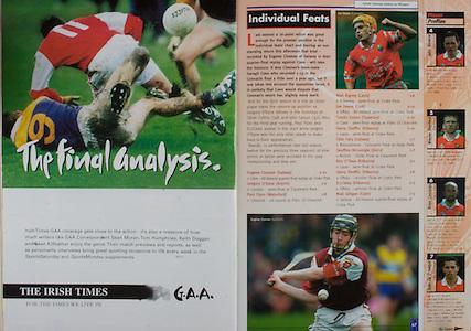 All Ireland Senior Hurling Championship - Final, .12.09.1999, 09.12.1999, 12th September 1999,.12091999AISHCF,.Senior Kilkenny v Cork,.Minor Galway v Tipperary, .Cork 0-13, Kilkenny 0-12,.The Irish Times,
