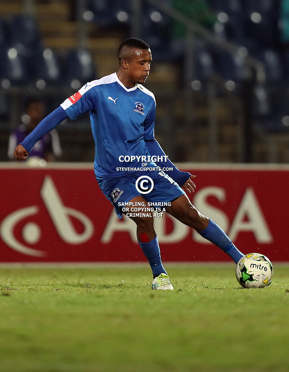 Sheldon van Wyk of Maritzburg Utd during the 2016 Premier Soccer League match between Maritzburg Utd and Polokwane City held at the Harry Gwala Stadium in Pietermaritzburg, South Africa on the 27th September 2016<br /> <br /> Photo by:   Steve Haag / Real Time Images